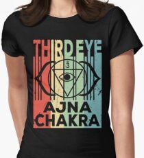 Yoga Third Eye Chakra Ajna Vintage Retro Women's Fitted T-Shirt