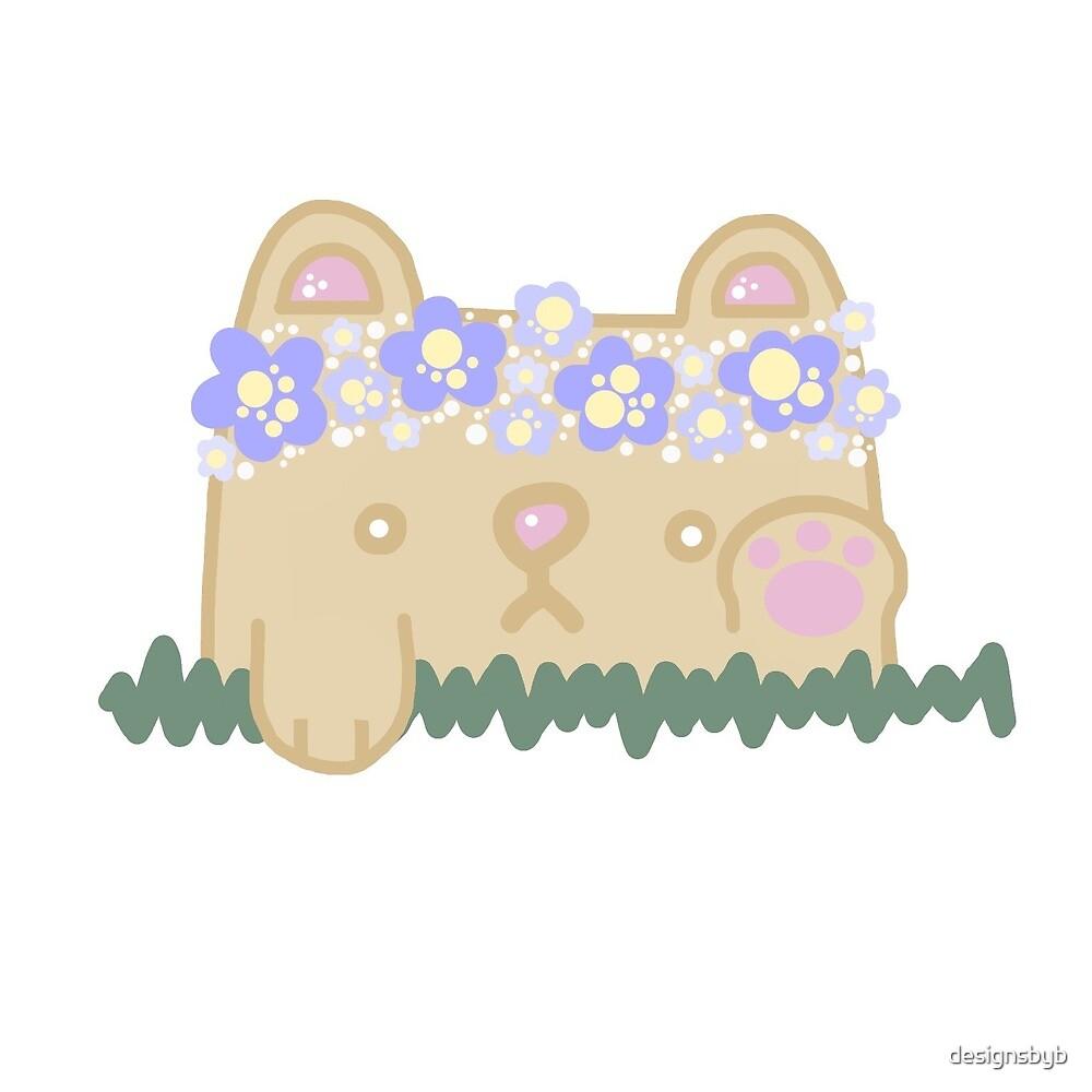 Flower Crown Bear by designsbyb