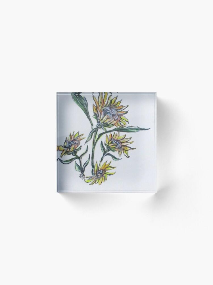 Alternate view of Sunflower Crazy Acrylic Block