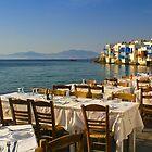 Preparing for Dinner, Mykonos by Barbara  Brown