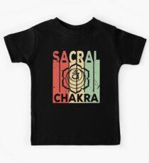 Yoga Sacral Chakra Vintage Retro Kids Tee