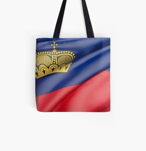 Liechtenstein flag All Over Print Tote Bag