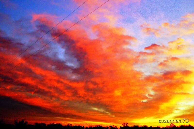 Clouds on Fire by suzannem73