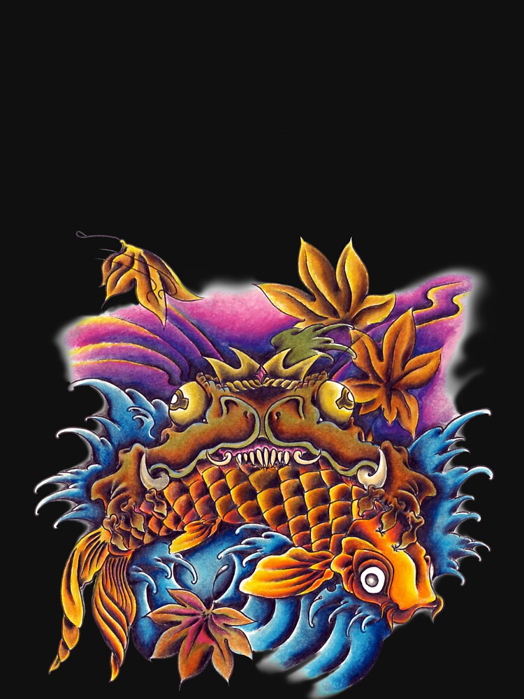 Frog Eating a Koi Fish Japanese FolkLore by tshirt2yourdoor