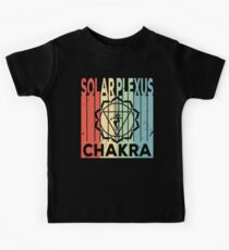 Yoga Solar Plexus Chakra Vintage Retro Kids Tee