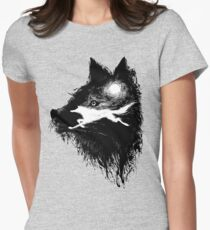 Run Wolf Run Womens Fitted T-Shirt
