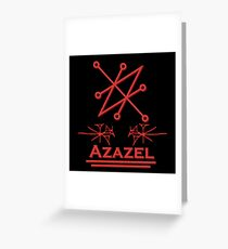 Azazel Greeting Card