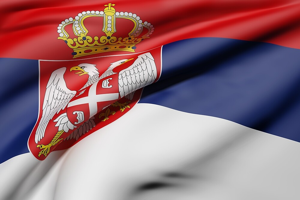 Serbia flag by erllre74