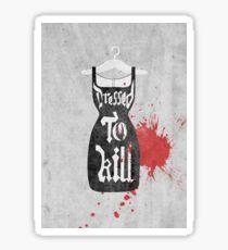 Dressed to Kill - Gothic Fashion Illustration Sticker