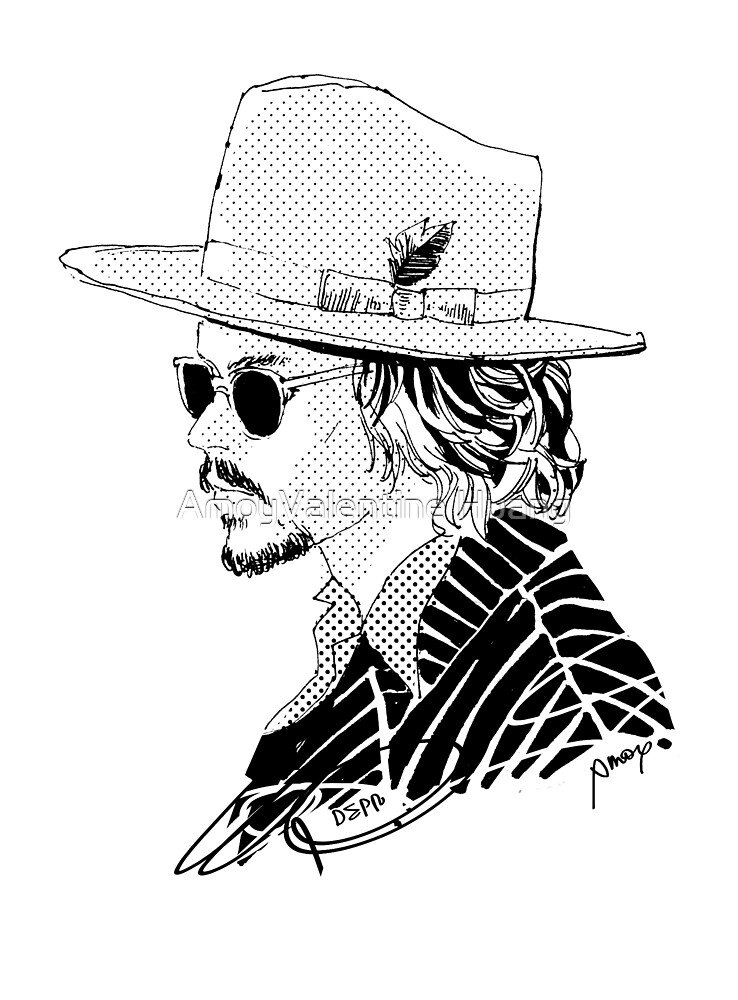 Johnny Depp with Hat and Sunglass by AmoyValentine Huang