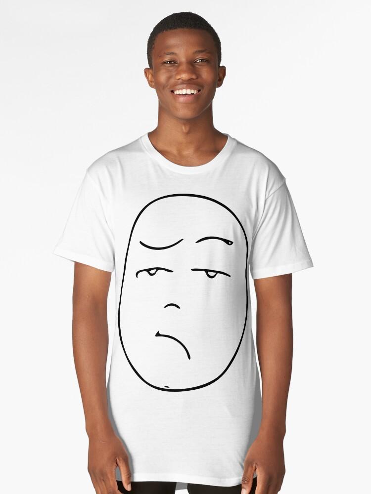 Unamused Long T-Shirt Front