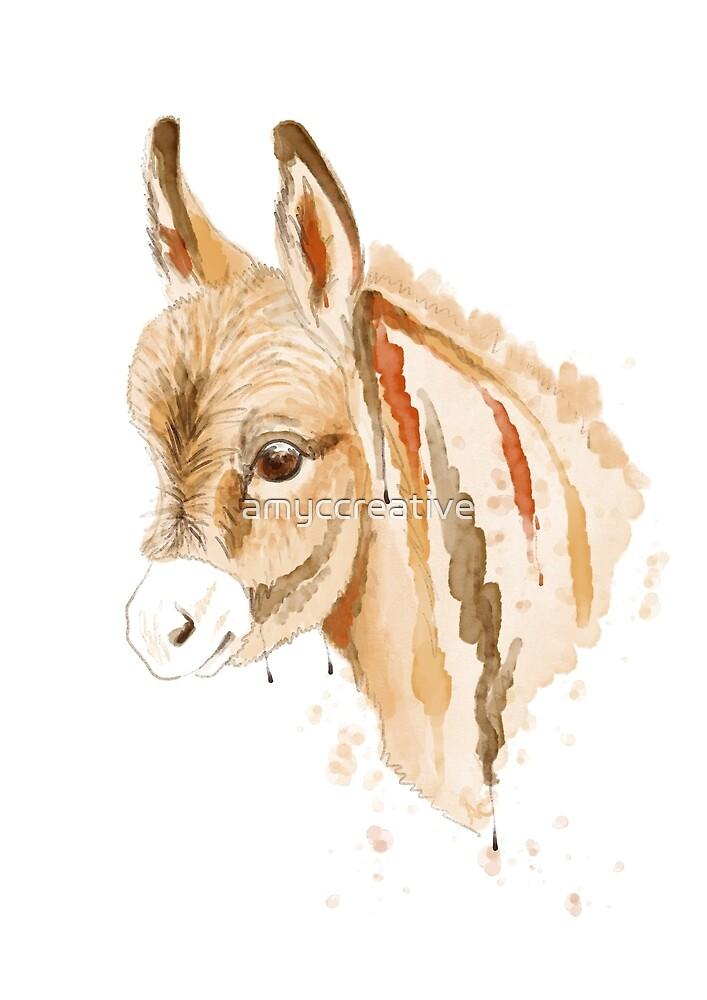 Miniature Donkey by amyccreative