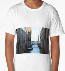 6 June 2017 People walking on a bridge in Venice, Italy Long T-Shirt