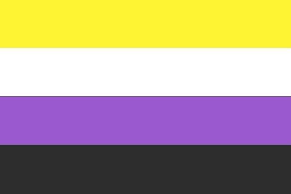 Non-Binary Pride Flag by taleea