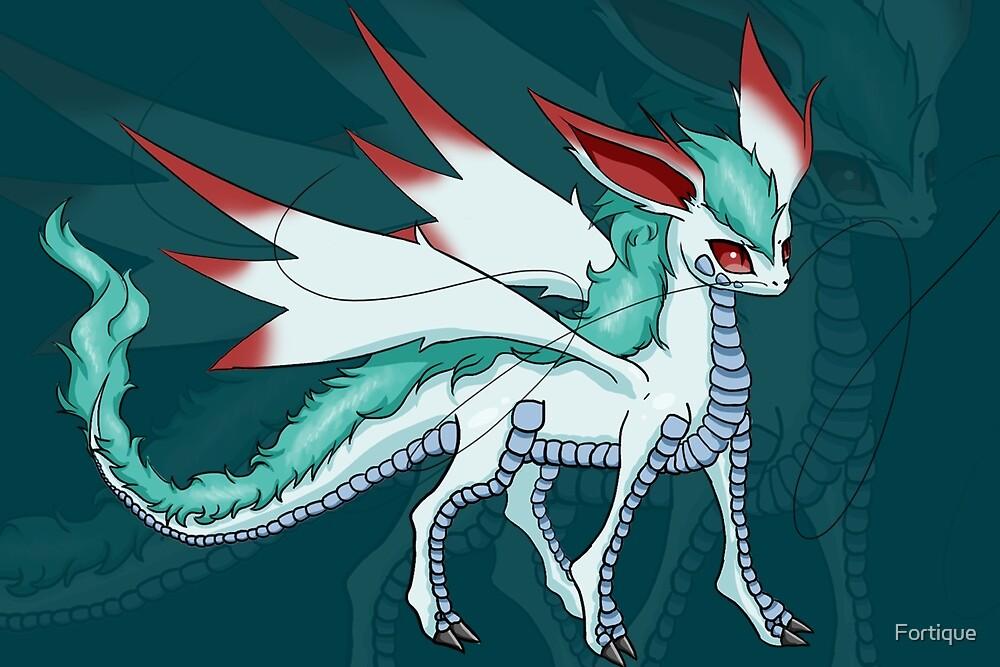 Dragon Eeveelution: Ryukeon by Fortique