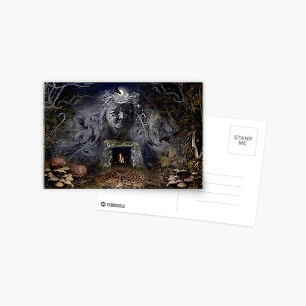 Samhain Goddess : The Crone Postcard