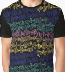 Zigzags from lines an abstract texture Graphic T-Shirt