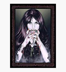 Goth Vamp Photographic Print