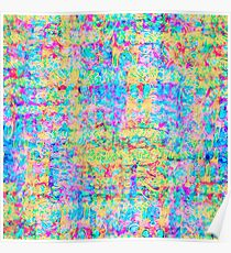 Abstract pattern in impressionism style. Poster