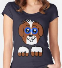 Doey Eyed Puppy  Women's Fitted Scoop T-Shirt