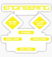 Engineering Flowchart Shirt Sticker