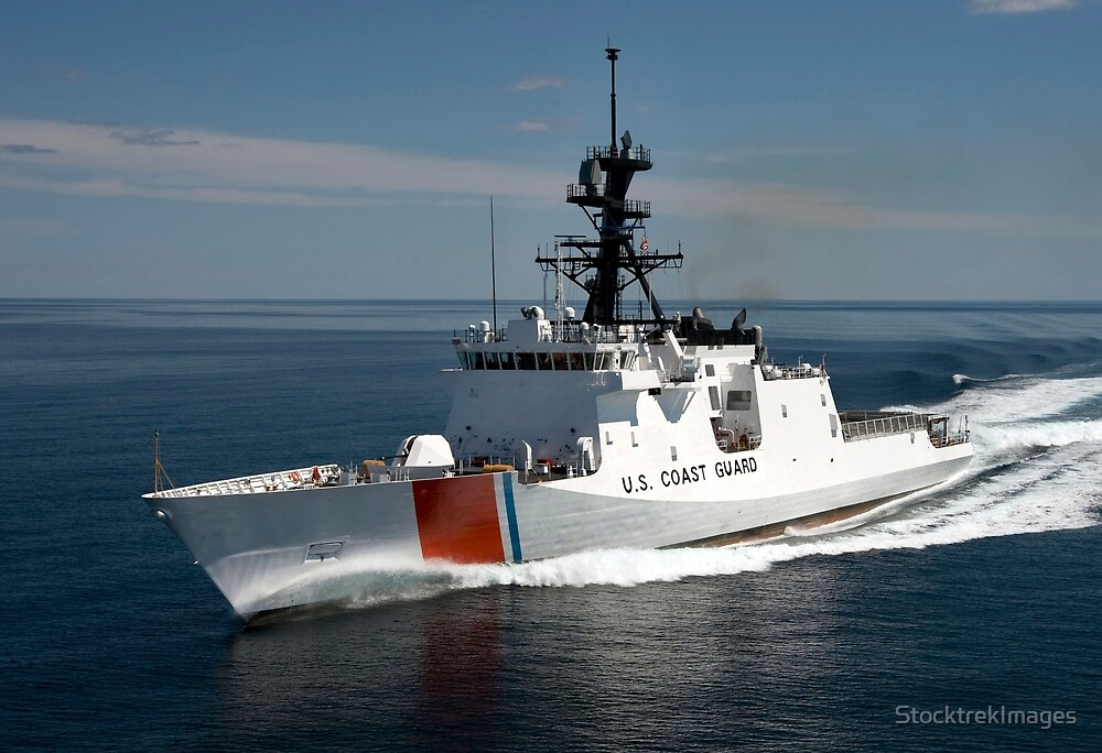 U.S. Coast Guard Cutter Waesche in the navigates the Gulf of Mexico. by StocktrekImages