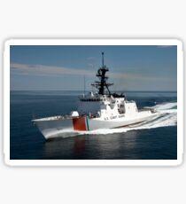 U.S. Coast Guard Cutter Waesche in the navigates the Gulf of Mexico. Sticker