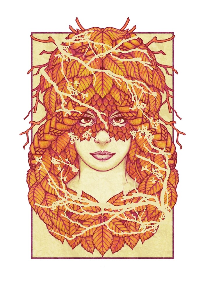 Autumn Braids - Forest Faces by Brett Miley