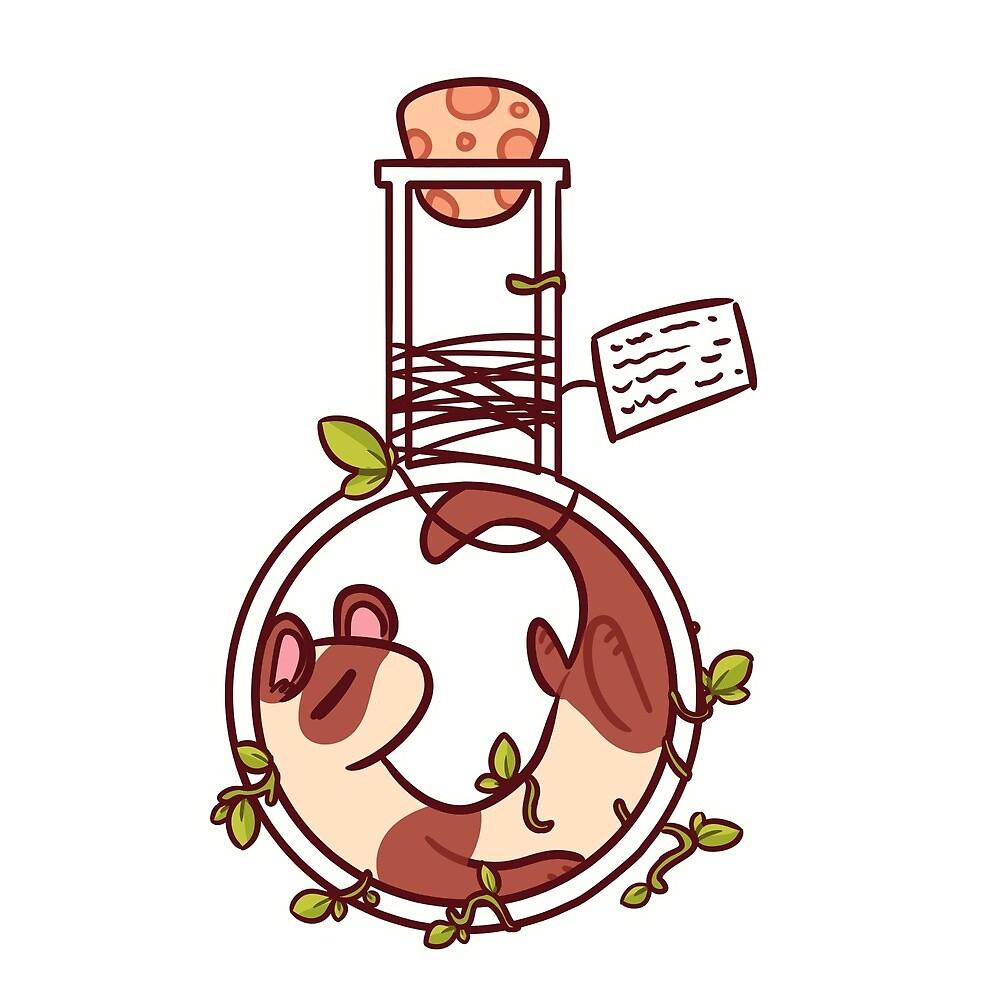 Ferret in a Potion Bottle by ArtisticEternal