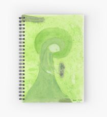 Mary in the meadow with flowers Spiral Notebook