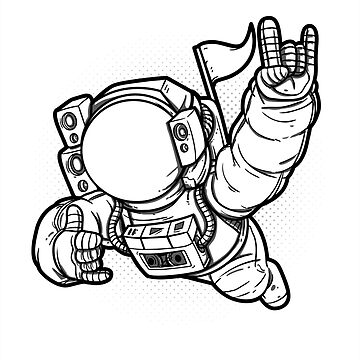 Funky Astronaut by nwsoulacademy