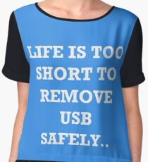 The Risks of Everyday Life Chiffon Top