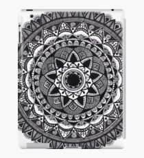 Black and White Petal Mandala iPad Case/Skin