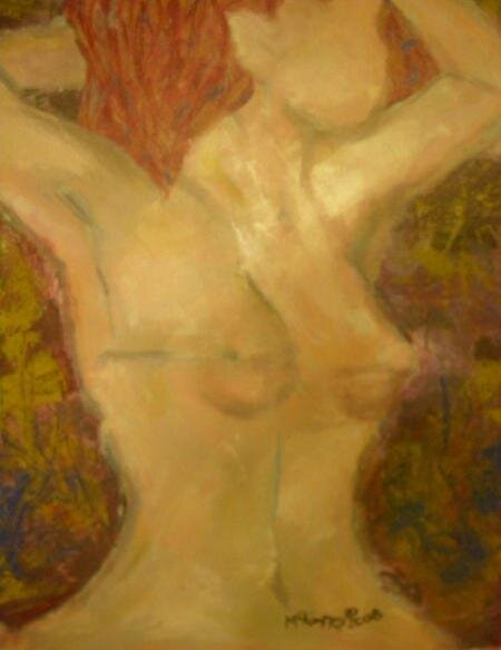 By Candlelight: A Sustained Figure Abstract by mckinneyart