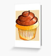 Cupcake; Vanilla; Chocolate; Frosting; Sweet Greeting Card