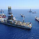 Abfackeln des Bohrschiffs Discoverer Enterprise. von StocktrekImages