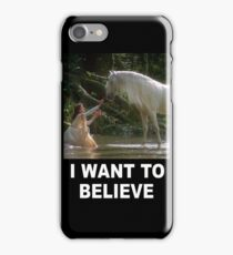 Uncorns - I Want To Believe iPhone Case/Skin