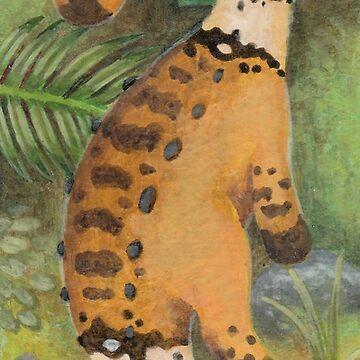 Cute Dinosaur Bookmark  by leviadraconia