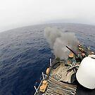 Die MK-75 76mm Kanone an Bord der United States Coast Guard Cutter Legare. von StocktrekImages