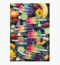 Fruity Ice Lollies Photographic Print