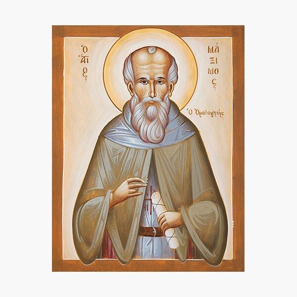 St Maximos the Confessor Photographic Print
