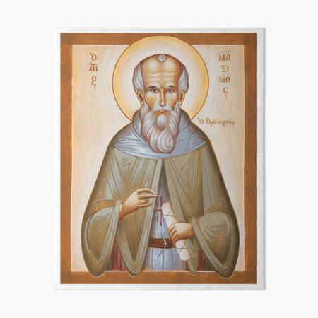 St Maximos the Confessor Art Board Print