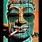 SMOKING BUDDHA by fuxart