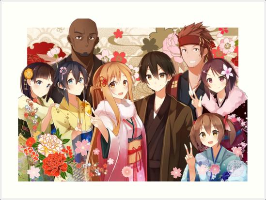 Kirito and Asuna and Sinon by FriendsLove