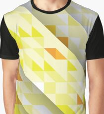 Yellow Abstract Triangle Pattern Graphic T-Shirt