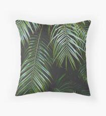 Palmtree in the dark Throw Pillow