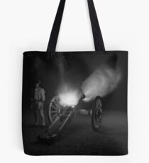 Firing the Six-Pounder at Night Tote Bag