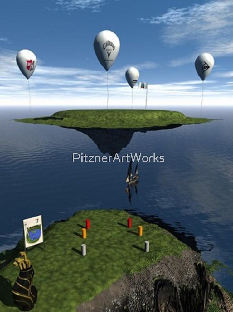 FLYING ISLAND GREEN by PitznerArtWorks