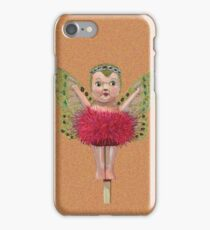 Cute Kewpie - Orange Background iPhone Case/Skin