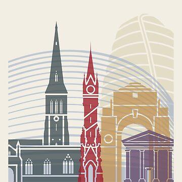 Leicester Skyline Poster von paulrommer